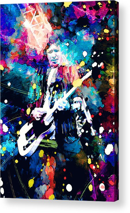 Rolling Stones Acrylic Print featuring the painting Keith Richards by Rosalina Atanasova