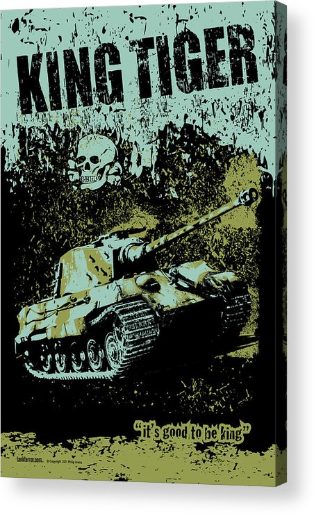 Armor Acrylic Print featuring the digital art King Tiger 334 by Philip Arena