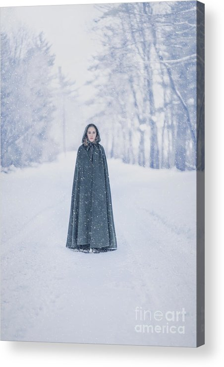 Kremsdorf Acrylic Print featuring the photograph Lady Of The Winter Forest by Evelina Kremsdorf