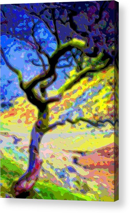 Landscape Acrylic Print featuring the digital art Landscape Art Tree Life by Mary Clanahan