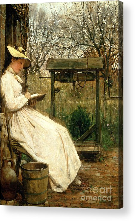 Read Acrylic Print featuring the painting Leisure Hours by John Robertson Reid