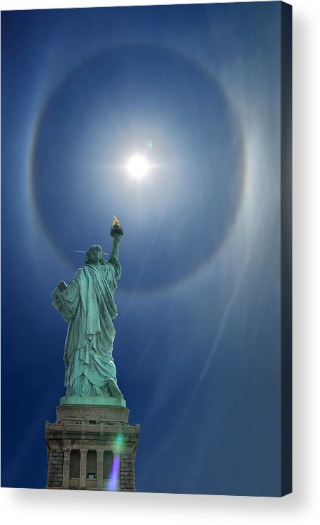 Illusion Acrylic Print featuring the photograph Liberty's Halo by Edwin Verin
