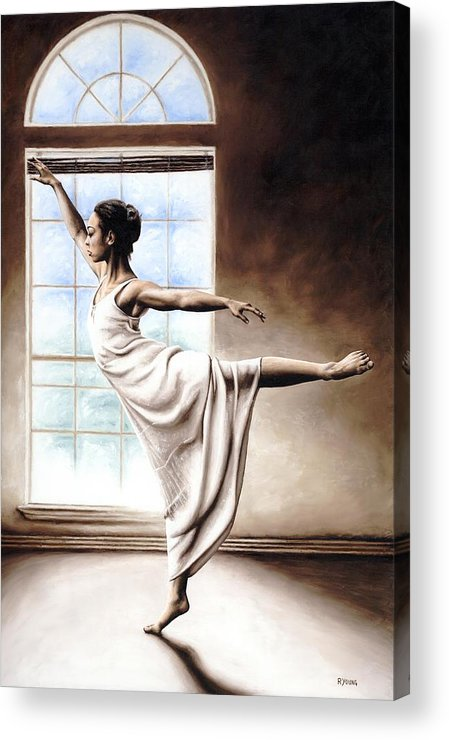 Dance Acrylic Print featuring the painting Light Elegance by Richard Young