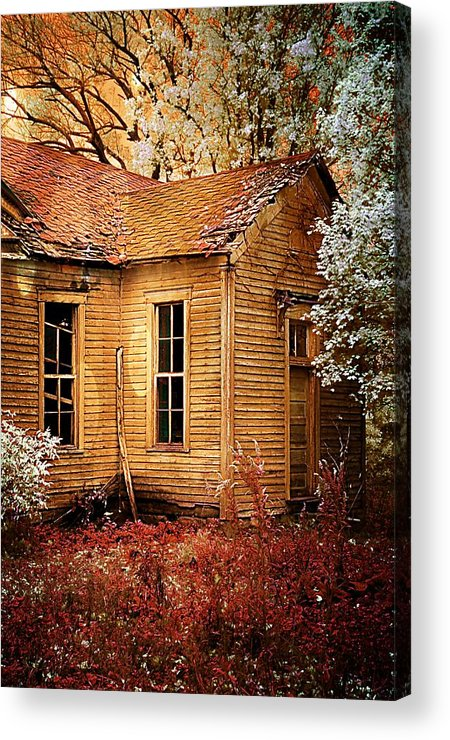 Old School House Acrylic Print featuring the photograph Little Old School House II by Julie Dant