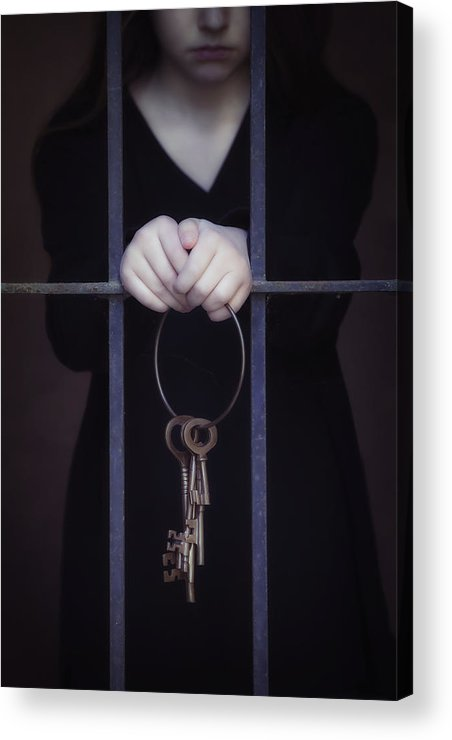 Girl Acrylic Print featuring the photograph Locked-in by Joana Kruse
