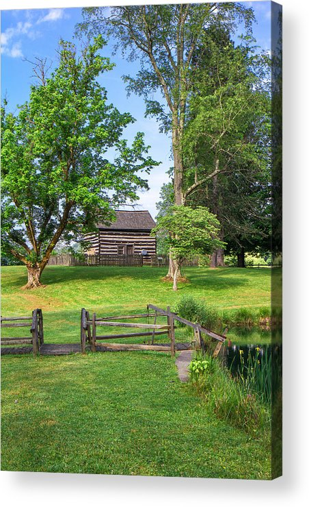 Jackson's Mill Acrylic Print featuring the photograph Log Cabin In The Trees by Mary Almond