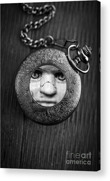 Creepy Acrylic Print featuring the photograph Look Behind You by Edward Fielding