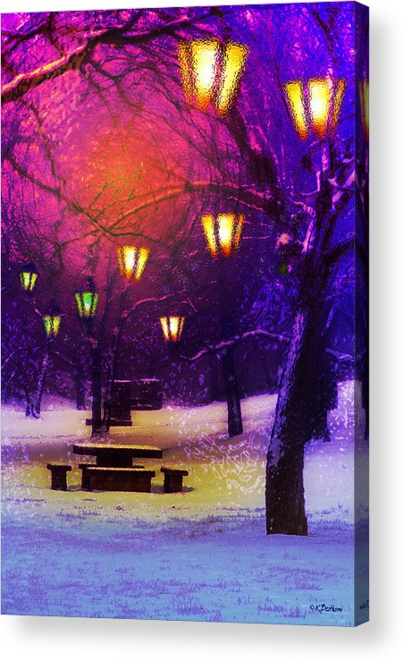 Picnic Acrylic Print featuring the digital art Magical Times by Kat Besthorn
