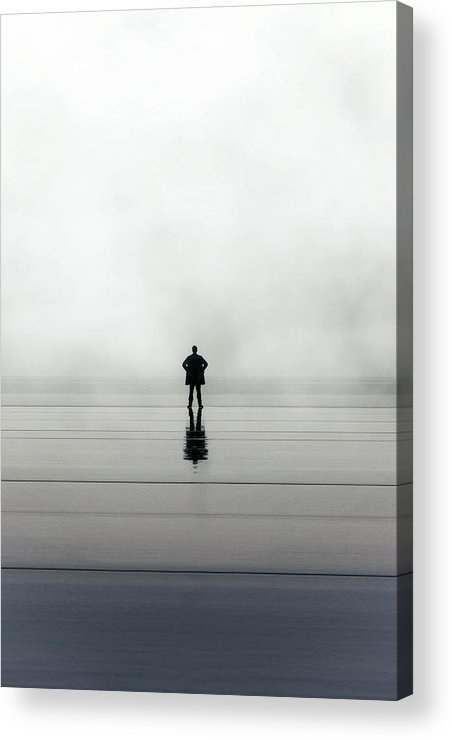 Young Acrylic Print featuring the photograph Man Alone by Joana Kruse