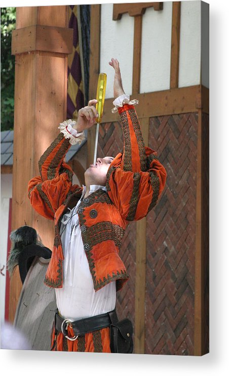 Maryland Acrylic Print featuring the photograph Maryland Renaissance Festival - Johnny Fox Sword Swallower - 121244 by DC Photographer