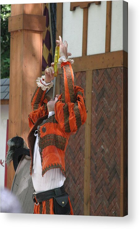 Maryland Acrylic Print featuring the photograph Maryland Renaissance Festival - Johnny Fox Sword Swallower - 121245 by DC Photographer