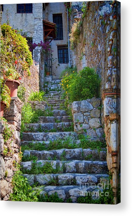 France Acrylic Print featuring the photograph Medieval Saint Paul De Vence 1 by David Smith