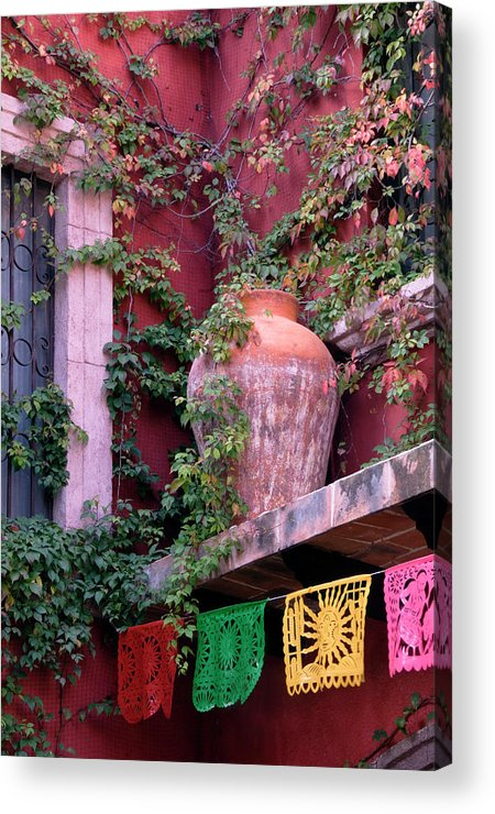Architecture Acrylic Print featuring the photograph Mexico, San Miguel De Allende, Ivy by Jaynes Gallery