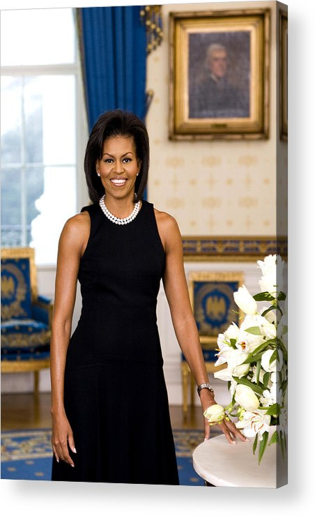 Admiral Acrylic Print featuring the digital art Michelle Obama by Official White House Photo