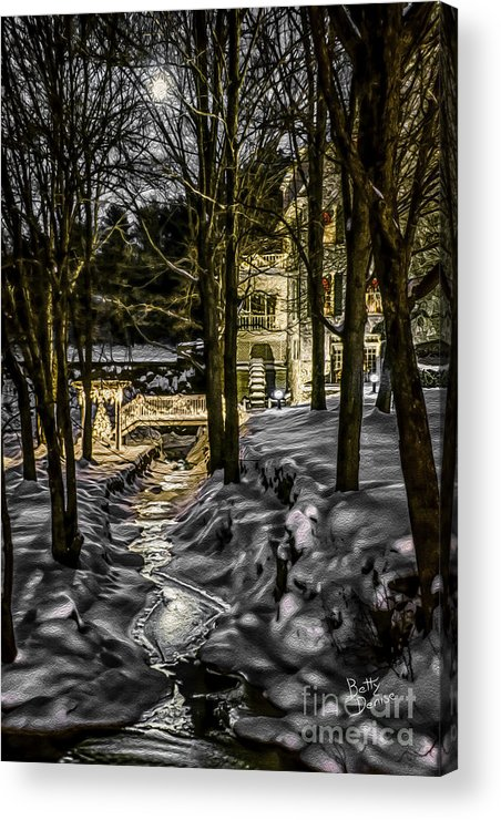 Millhouse Acrylic Print featuring the photograph Millhouse In The Moonlight by Betty Denise