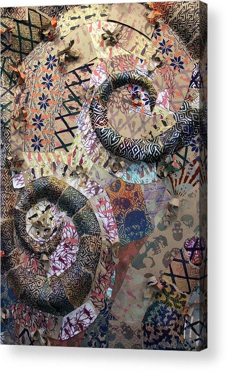 Silkscreen Acrylic Print featuring the mixed media Mind Space by Margo Kurtzke