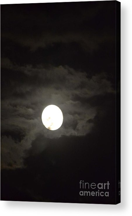 Moon Acrylic Print featuring the photograph Moon by Steven Clayton
