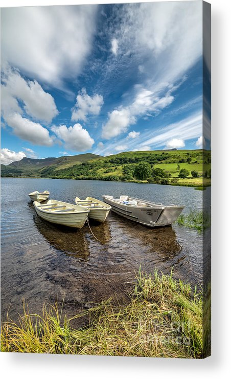 Water Acrylic Print featuring the photograph Moored Boats by Adrian Evans