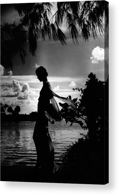 Beauty Acrylic Print featuring the photograph Mrs Allan A Ryan Jr At Palm Beach by Toni Frissell