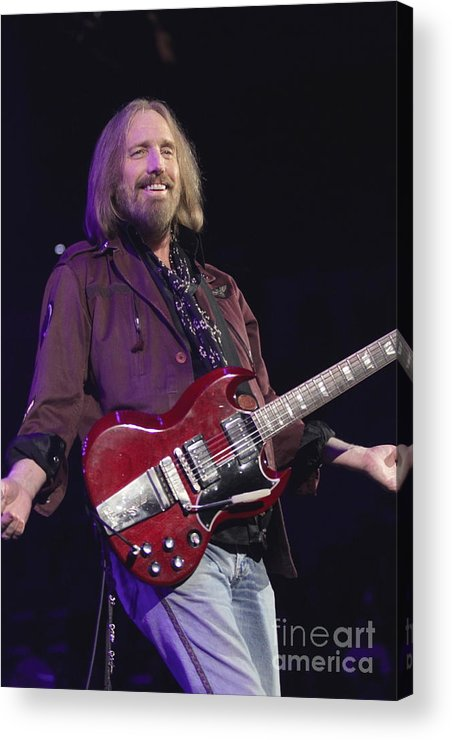 Singer Acrylic Print featuring the photograph Tom Petty by Concert Photos