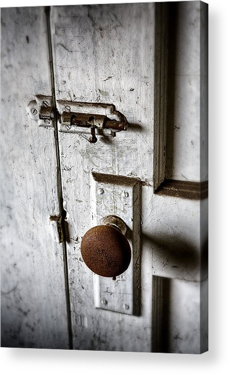 Doorknob Acrylic Print featuring the photograph Mystery Door by Caitlyn Grasso