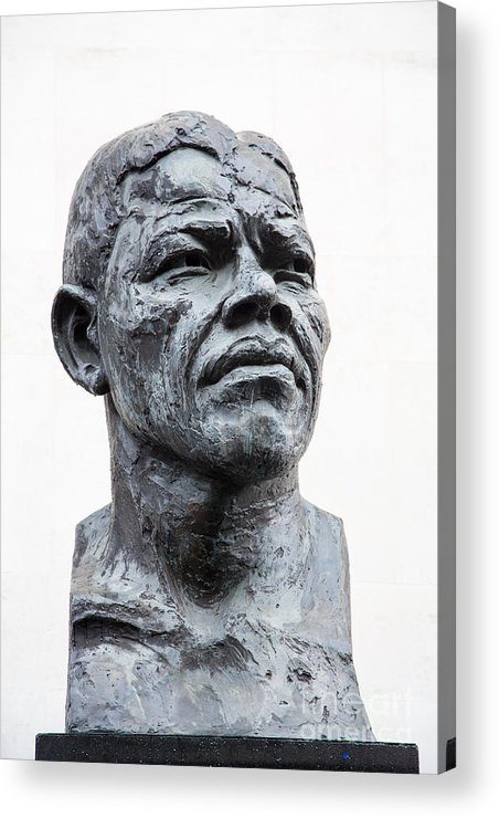 Africa Acrylic Print featuring the photograph Nelson Mandela Statue by Jane Rix