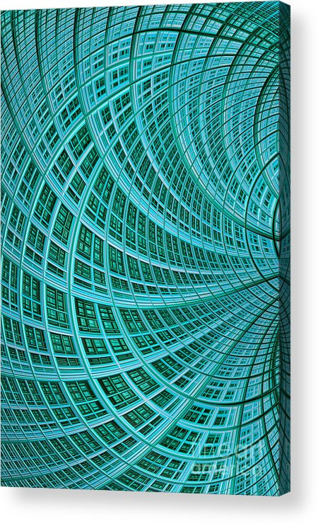 Mesh Acrylic Print featuring the digital art Network by John Edwards
