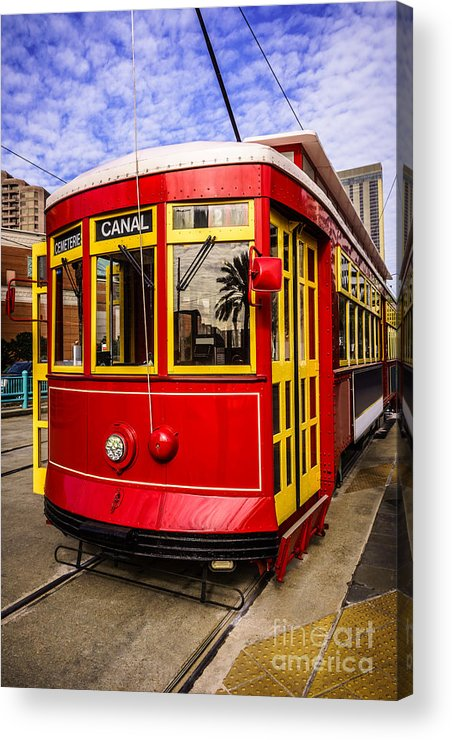 America Acrylic Print featuring the photograph New Orleans Streetcar by Paul Velgos