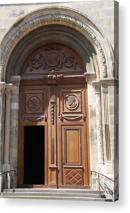 Door Acrylic Print featuring the photograph Old Church Door Cathedral Autun by Christiane Schulze Art And Photography