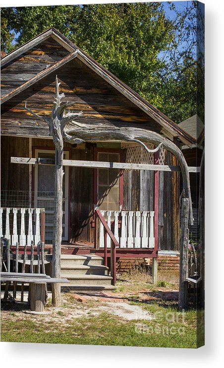 Cabin Acrylic Print featuring the photograph Old Ranch Cabin In Antique Color 3008.02 by M K Miller