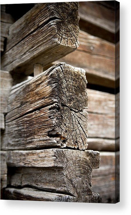Old Wood Acrylic Print featuring the photograph Old Wood by Frank Tschakert