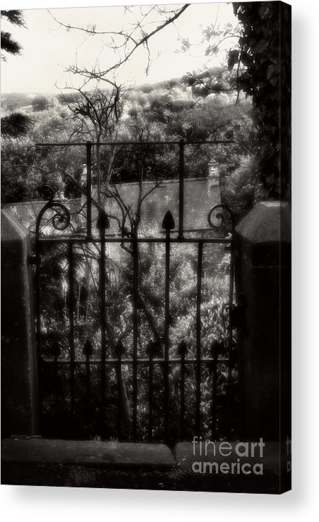 Garden Acrylic Print featuring the photograph Olde Victorian Gate Leading To A Secret Garden - Peak District - England by Doc Braham