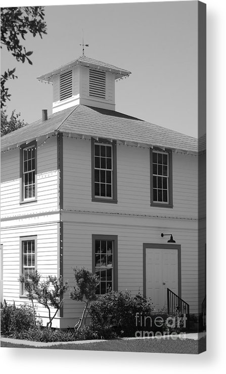 Historic Acrylic Print featuring the photograph On The Square - Round Top Texas by Connie Fox