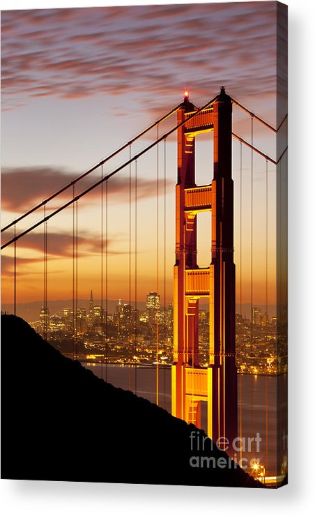 Sunrise Acrylic Print featuring the photograph Orange Light At Dawn by Brian Jannsen
