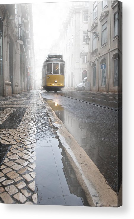 Lisbon Acrylic Print featuring the photograph Out Of The Haze by Jorge Maia