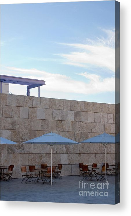 Architecture Acrylic Print featuring the photograph Outdoor Terrace At The Getty Center In Los Angeles by Julia Hiebaum