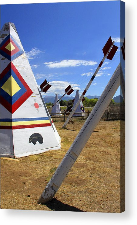Hogan Trading Post Acrylic Print featuring the photograph Outside The Hogan Trading Post by Mike McGlothlen