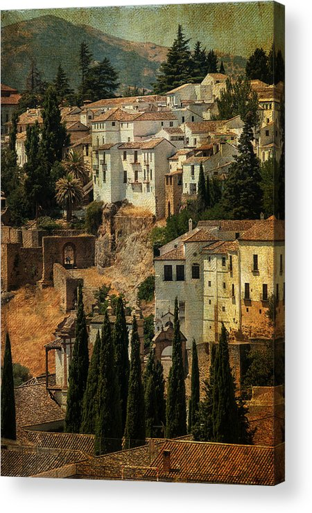 Spain Acrylic Print featuring the photograph Painted Ronda. Spain by Jenny Rainbow