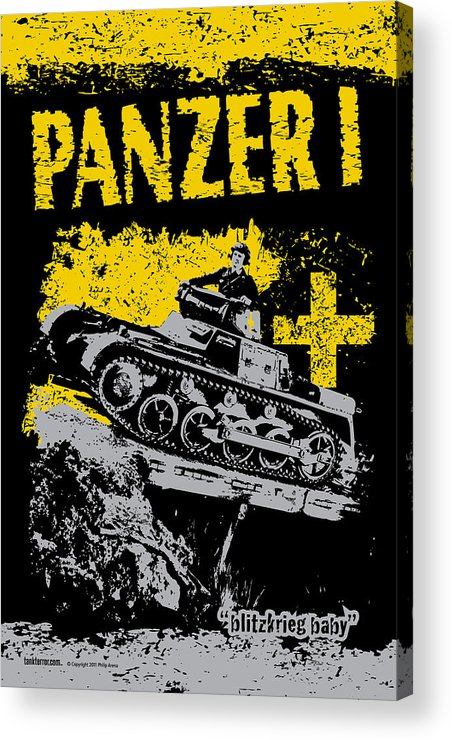 Armor Acrylic Print featuring the digital art Panzer I by Philip Arena