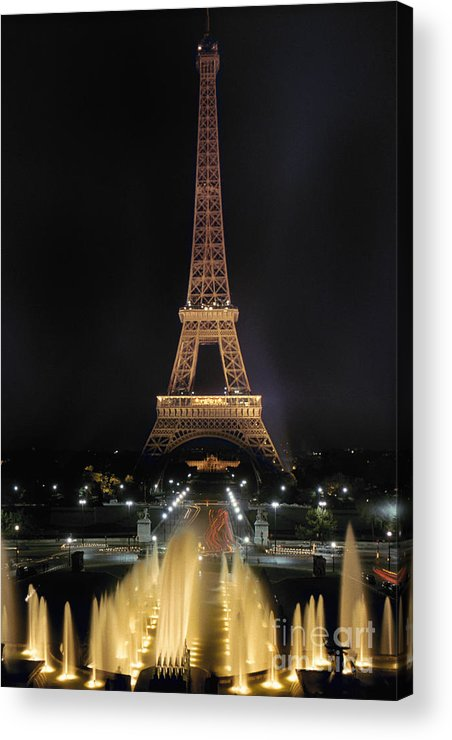 Architecture Acrylic Print featuring the photograph Paris: Eiffel Tower by Granger