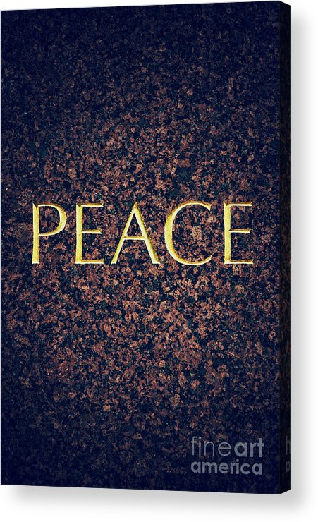 Peace Acrylic Print featuring the photograph Peace by Tim Gainey