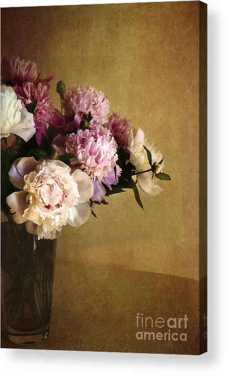 Peonies Acrylic Print featuring the photograph Peonies by Elena Nosyreva