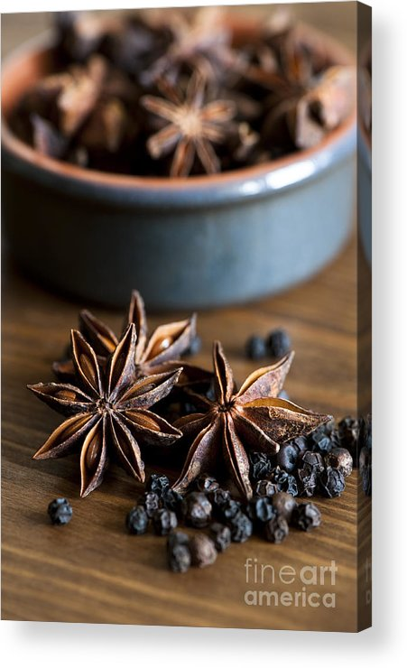 Anise Acrylic Print featuring the photograph Pepper And Spice by Anne Gilbert