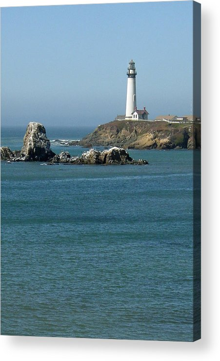 Lighthouse Acrylic Print featuring the photograph Pigeon Point Lighthouse Near Half Moon Bay-san Francisco by Suzanne Gaff