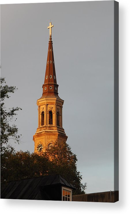 Cross Acrylic Print featuring the photograph Pointing Upward by Suzanne Gaff