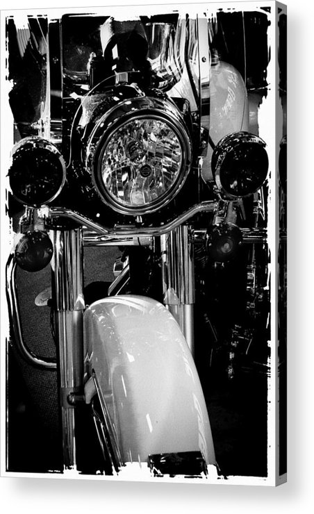 Classic Cycle Acrylic Print featuring the photograph Police Harley II by David Patterson