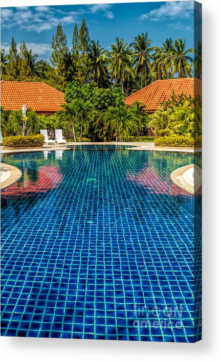 Swimming Pool Acrylic Print featuring the photograph Pool Time by Adrian Evans