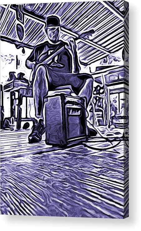 Porch Acrylic Print featuring the photograph Porch Pickin by Bartz Johnson