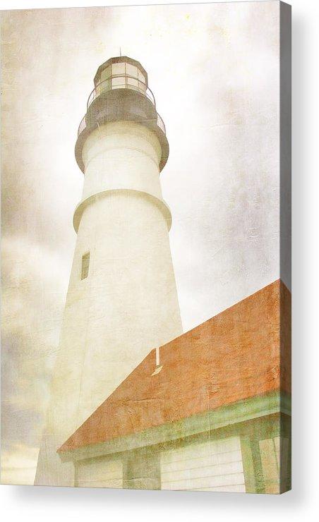 Portland Head Light Acrylic Print featuring the photograph Portland Head Lighthouse Maine by Carol Leigh
