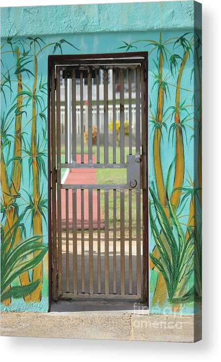 Gate Acrylic Print featuring the photograph Porton Cerrado by The Art of Alice Terrill